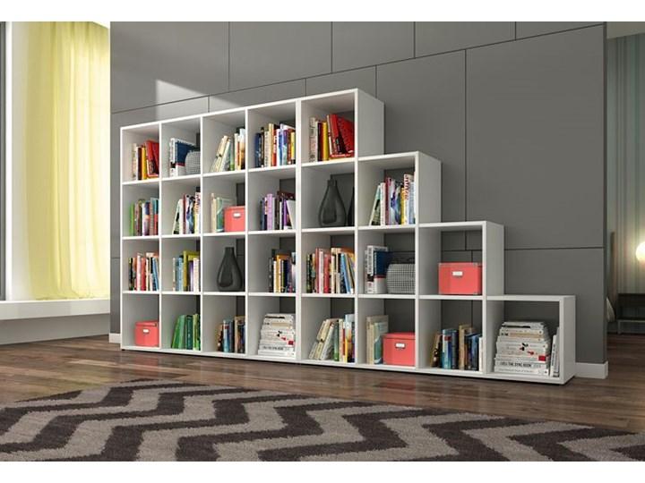 Biblioteczka regał Maleo 3X - biały Biblioteka Na książki Wysokość 145 cm Szerokość 137 cm Pomieszczenie Salon
