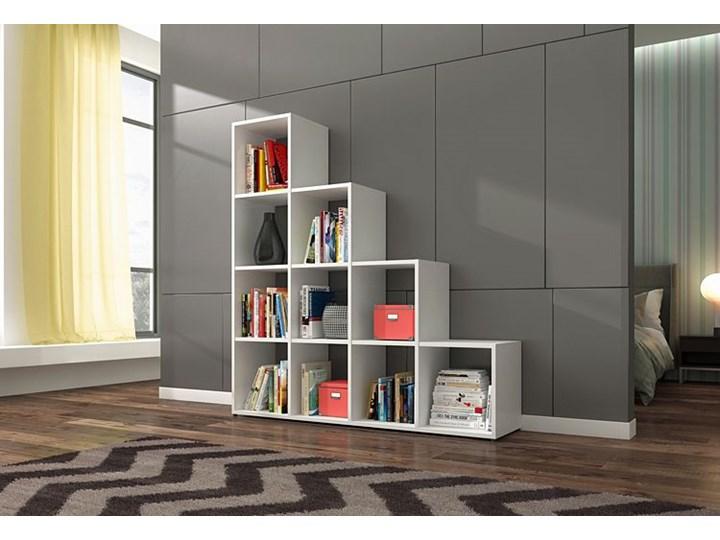 Biblioteczka regał Maleo 3X - biały Szerokość 137 cm Wysokość 145 cm Biblioteka Na książki Typ Stojące