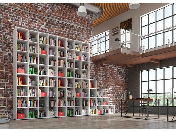 Biblioteczka regał Maleo 3X - biały Pomieszczenie Salon Wysokość 145 cm Na książki Biblioteka Szerokość 137 cm Styl Nowoczesny