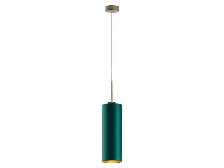 Lampa wisząca do kuchni ELBA GOLD WYSYŁKA 24H Lampa z abażurem Tkanina Metal Stal Chrom Ilość źródeł światła 1 źródło