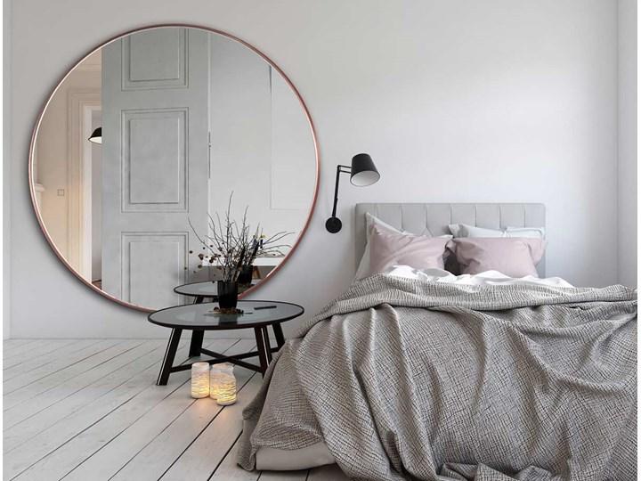 LUSTRO SCANDI SLIM MIEDZIANE Okrągłe Ścienne Lustro z ramą Pomieszczenie Salon