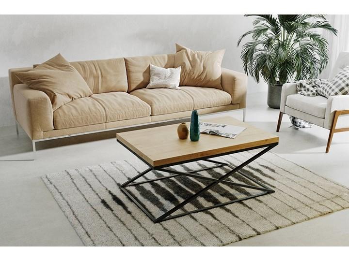 Stolik kawowy Egil Wysokość 45 cm Metal Rodzaj nóg Płozy Kolor Czarny