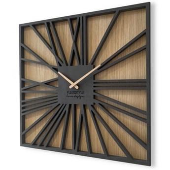 Duży zegar ścienny Square Loft 50cm
