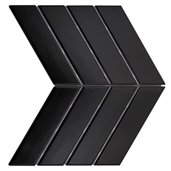 Royal Chevron Black Matt 31,8 x 22,4 płytka ścienna