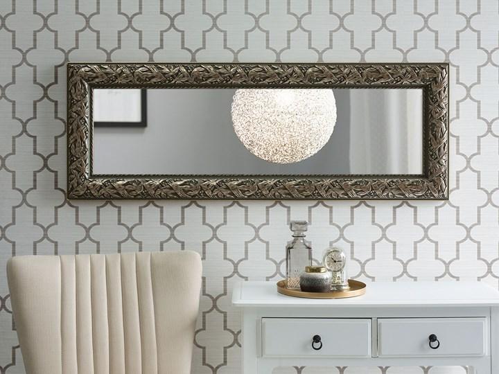 Lustro ścienne wiszące złote 51 x 141 cm ozdobna postarzana rama salon sypialnia styl klasyczny francuski Styl Vintage Lustro z ramą Prostokątne Kolor Złoty