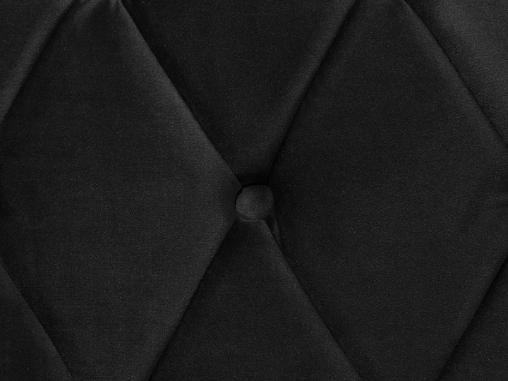 Łóżko ze stelażem czarne welurowe 180 x 200 cm z zagłówkiem pikowane styl glamour Drewno Łóżko pikowane Łóżko tapicerowane Rozmiar materaca 180x200 cm Kategoria Łóżka do sypialni