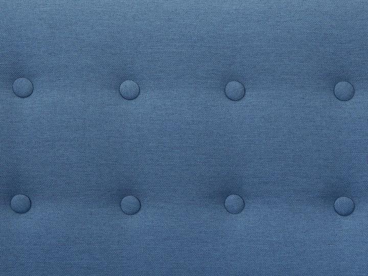 Narożnik lewostronny niebieski 3-osobowy pikowany styl skandynawski W kształcie L Szerokość 182 cm Strona Lewostronne
