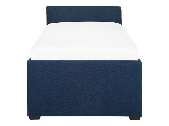 Łóżko dziecięce wysuwane ze stelażem ciemnoniebieskie tapicerowane tkaniną 90 x 200 cm Tworzywo sztuczne Drewno Rozmiar materaca 90x200 cm Kategoria Łóżka dla dzieci