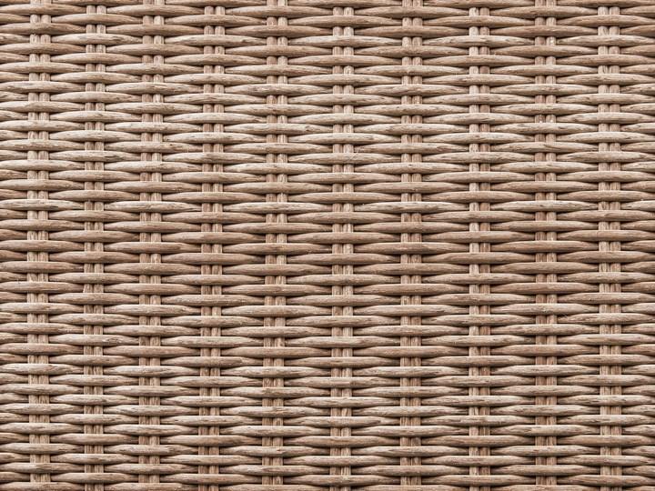 Zestaw mebli ogrodowych brązowy rattan szare poduchy modułowy narożnik fotel stolik kawowy Tworzywo sztuczne Aluminium Styl Nowoczesny Zestawy kawowe Zestawy modułowe Technorattan Zestawy wypoczynkowe Kategoria Zestawy mebli ogrodowych