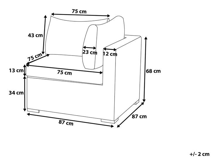 Zestaw mebli ogrodowych brązowy rattan szare poduchy modułowy narożnik fotel stolik kawowy Tworzywo sztuczne Zestawy modułowe Zestawy wypoczynkowe Technorattan Aluminium Zestawy kawowe Kategoria Zestawy mebli ogrodowych