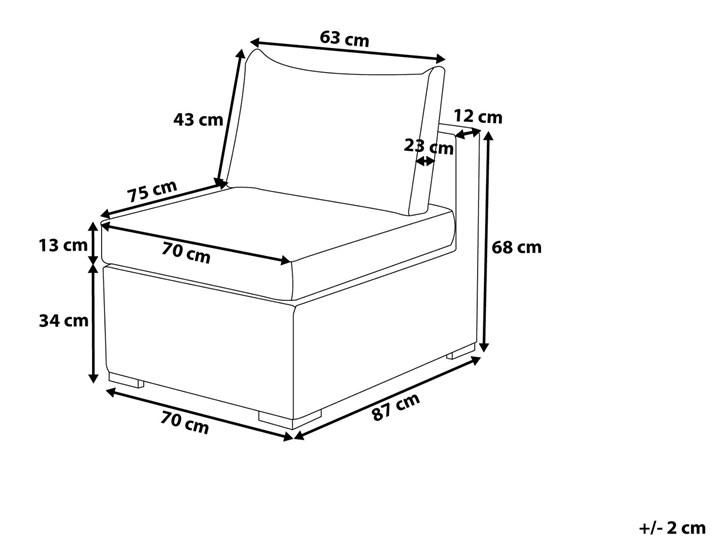 Zestaw mebli ogrodowych brązowy rattan szare poduchy modułowy narożnik fotel stolik kawowy Zestawy modułowe Zestawy kawowe Technorattan Zestawy wypoczynkowe Aluminium Tworzywo sztuczne Styl Nowoczesny