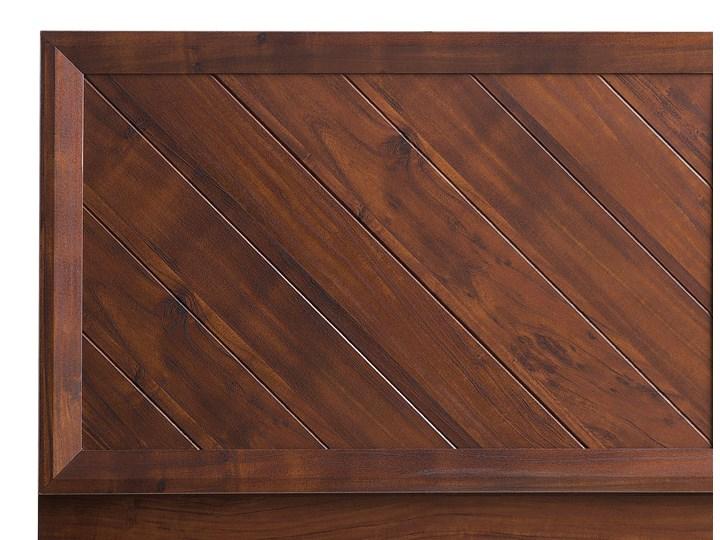 Łóżko LED ze stelażem ciemne drewno 140 x 200 cm wysokie wezgłowie kolorowe oświetlenie rustykalny design ramy Łóżko drewniane Kolor Wielokolorowy