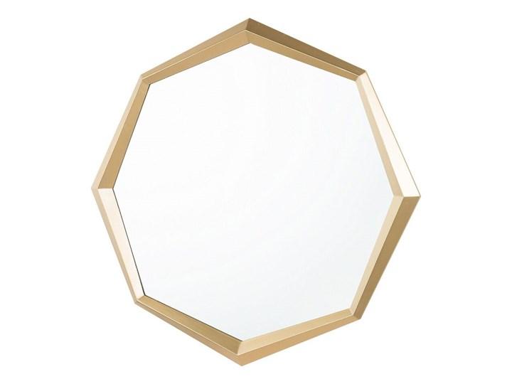 Lustro ścienne wiszące złote geometryczne ośmiokąt 71 cm Lustro z ramą Nieregularne Pomieszczenie Sypialnia
