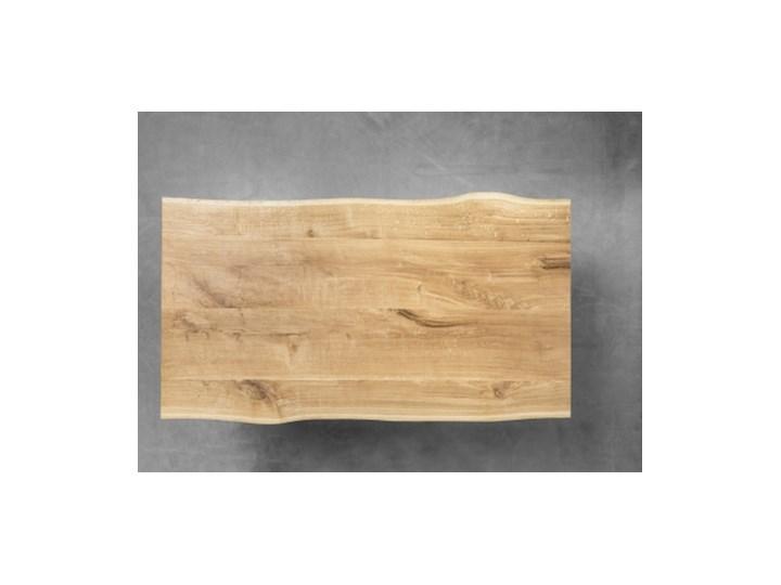 PABLO stół z drewnianym blatem w stylu loftowym