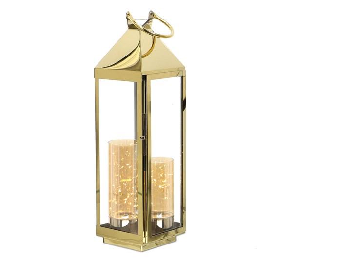 LATARNIA CHROMOWANA METALOWA ZŁOTY CHROM 60CM Lampion Świeca Kategoria Świeczniki i świece