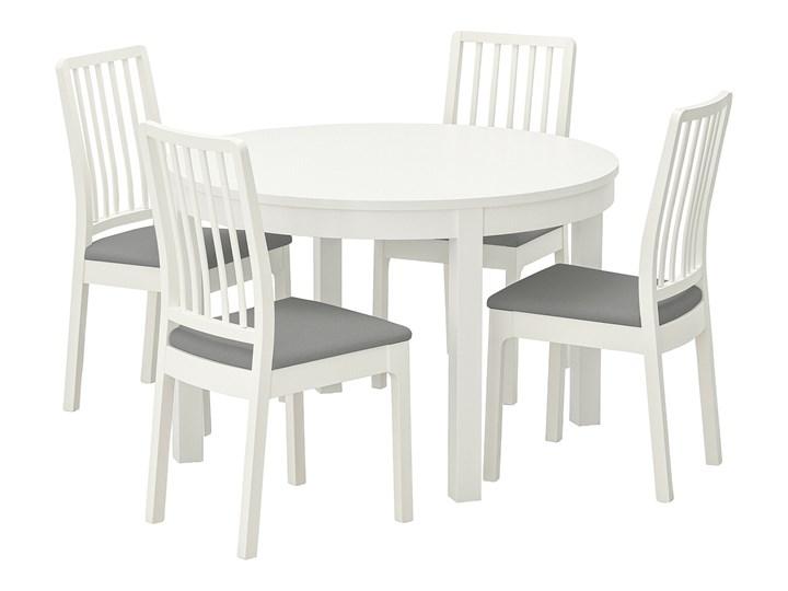IKEA BJURSTA / EKEDALEN Stół i 4 krzesła, biały/Orrsta jasnoszary, 115 cm Pomieszczenie Jadalnia Kategoria Stoły z krzesłami