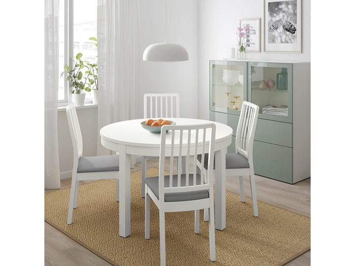 BJURSTA / EKEDALEN Stół i 4 krzesła Kolor Biały Kolor Szary