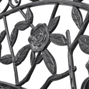 Metalowa ławka ogrodowa Loryn - zielona