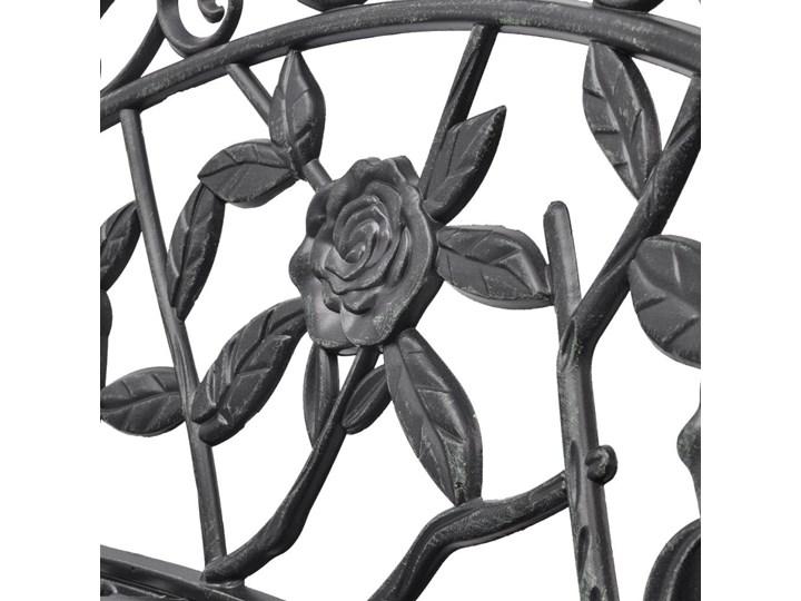 Metalowa ławka ogrodowa Loryn - zielona Z oparciem Stal Kategoria Ławki ogrodowe
