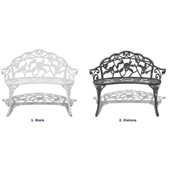 Metalowa ławka ogrodowa Loryn - biała