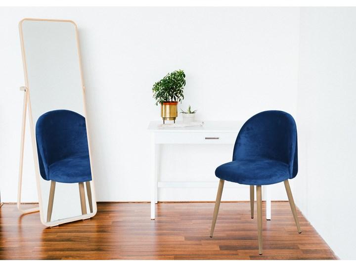 Krzesło tapicerowane Jazz Velvet granatowy Głębokość 48 cm Styl Nowoczesny Krzesło inspirowane Wysokość 79 cm Tkanina Drewno Welur Wysokość 78 cm Szerokość 49 cm Tworzywo sztuczne Metal Kategoria Krzesła kuchenne