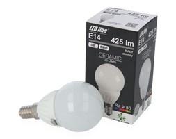 Żarówka LED line SMD E14 230V 5W 425lm  biała dzienna 4000K GLOBE