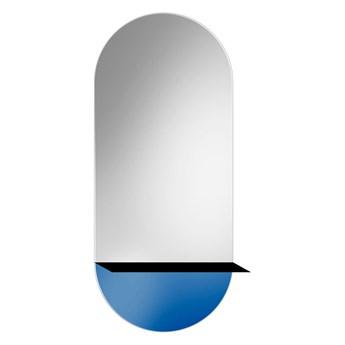 Lustro Novi niebieskie – z metalową półką