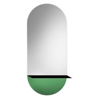 Lustro Novi zielone– z metalową półką