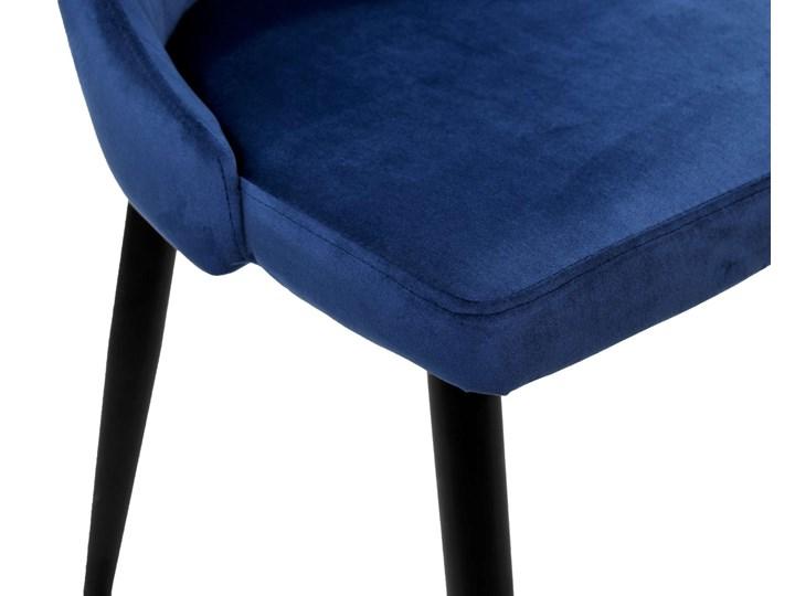 Krzesło welurowe LORIENT VELVET granatowe Wysokość 89 cm Szerokość 32 cm Tapicerowane Metal Krzesło inspirowane Głębokość 45 cm Tworzywo sztuczne Wysokość 46 cm Wysokość 41 cm Tkanina Styl Industrialny