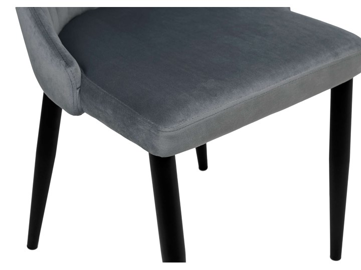 Krzesło welurowe LORIENT VELVET grafitowe Szerokość 32 cm Metal Krzesło inspirowane Tkanina Tapicerowane Wysokość 41 cm Tworzywo sztuczne Głębokość 45 cm Wysokość 46 cm Wysokość 89 cm Styl Glamour