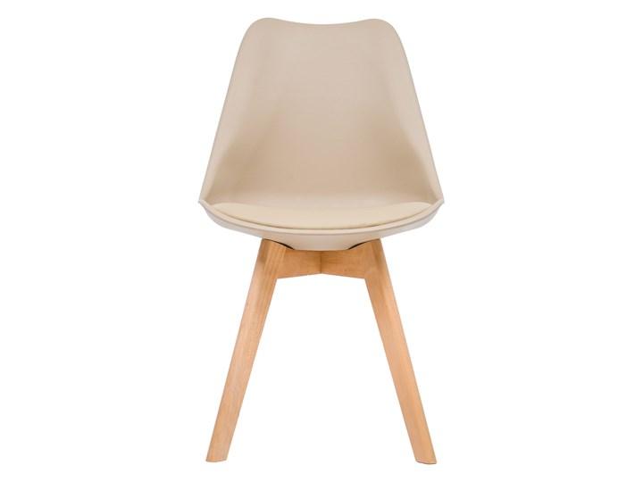 NOWOCZESNE KRZESŁO 53E-7 BEŻ Wysokość 84 cm Drewno Tworzywo sztuczne Kategoria Krzesła kuchenne