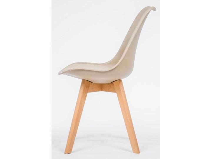 NOWOCZESNE KRZESŁO 53E-7 BEŻ Tworzywo sztuczne Wysokość 84 cm Drewno Styl Nowoczesny Kategoria Krzesła kuchenne