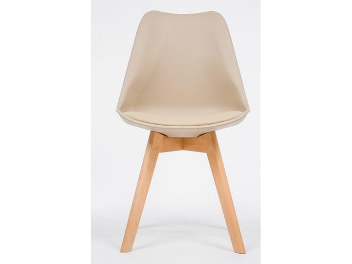 NOWOCZESNE KRZESŁO 53E-7 BEŻ Styl Nowoczesny Drewno Tworzywo sztuczne Wysokość 84 cm Kategoria Krzesła kuchenne