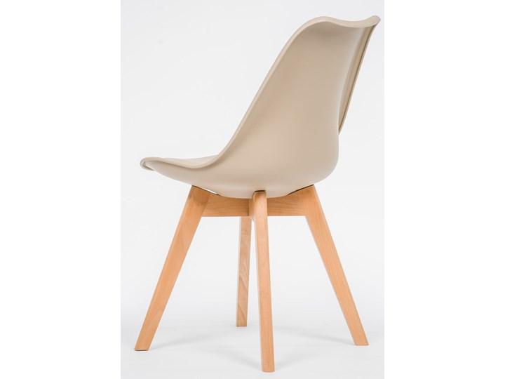 NOWOCZESNE KRZESŁO 53E-7 BEŻ Wysokość 84 cm Drewno Styl Nowoczesny Tworzywo sztuczne Kategoria Krzesła kuchenne