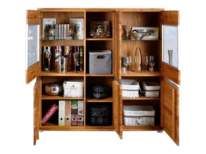 Kredens dębowy Faro Soolido Meble Drewno Pomieszczenie Salon