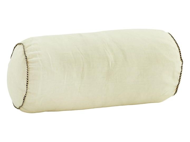 PODUSZKA WAŁEK Z LNU WHITE MADAM STOLTZ Poszewka dekoracyjna 20x50 cm Aksamit Wzór Jednolity Poduszka dekoracyjna Len Bawełna Kategoria Poduszki i poszewki dekoracyjne