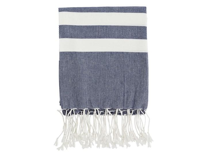 RĘCZNIK KAPIELOWY BAWEŁNIANY NIEBIESKI MADAM STOLTZ 100x180 cm Kategoria Ręczniki Ręcznik plażowy Bawełna Kolor Szary