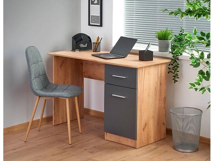Nowoczesne biurko Zuma - dąb wotan - antracyt Głębokość 55 cm Biurko komputerowe Biurko tradycyjne Szerokość 120 cm Kategoria Biurka