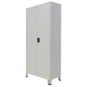 vidaXL Szafa biurowa z 2 drzwiami, stal, 90x40x180 cm, kolor szary