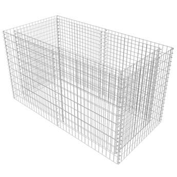 vidaXL Podwyższona donica, ze stali 180 x 90 x 100 cm, srebrna