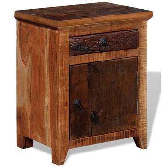 vidaXL Szafka nocna, lite drewno akacjowe z odzysku