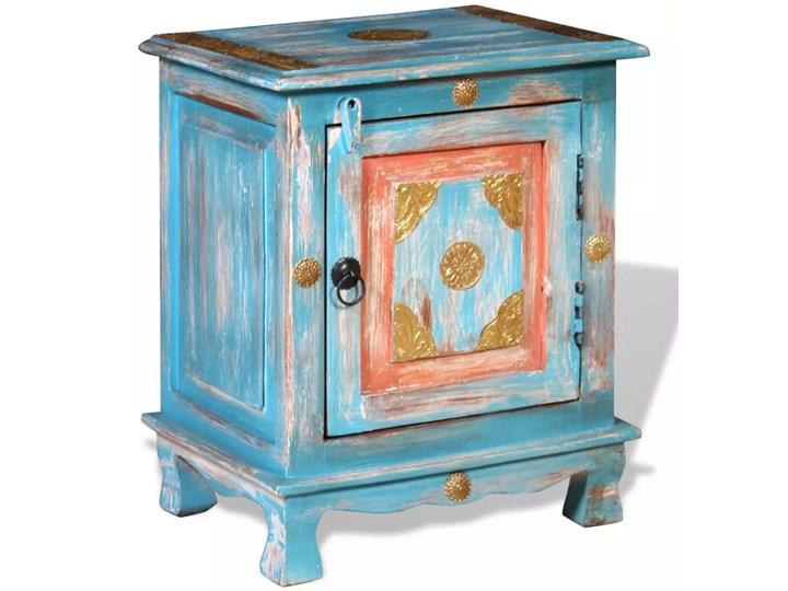 vidaXL Szafka nocna, lite drewno mango, kolor niebieski Kolor Wielokolorowy Pomieszczenie Sypialnia