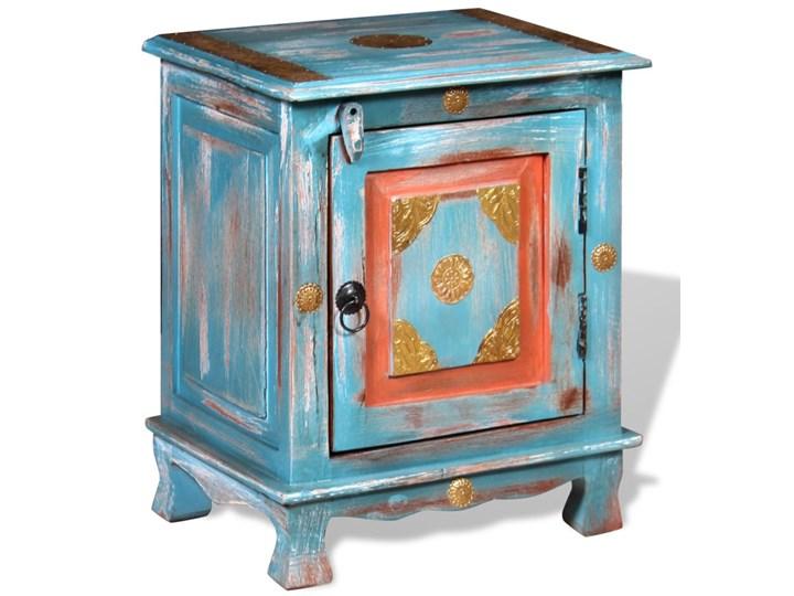 vidaXL Szafka nocna, lite drewno mango, kolor niebieski Typ Nocne Pomieszczenie Sypialnia