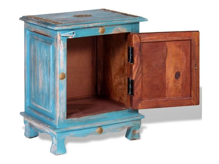 vidaXL Szafka nocna, lite drewno mango, kolor niebieski Kolor Wielokolorowy Styl Vintage