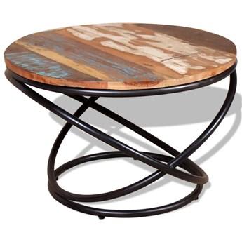 vidaXL Stolik kawowy, drewno odzyskane, 60x60x40 cm