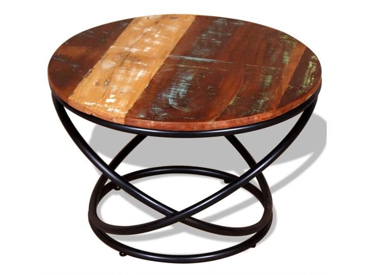 vidaXL Stolik kawowy, drewno odzyskane, 60x60x40 cm Metal Kategoria Stoliki i ławy