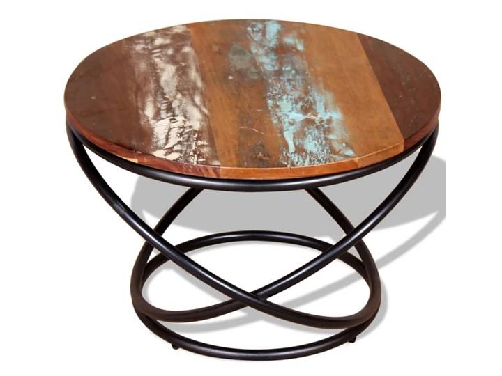 vidaXL Stolik kawowy, drewno odzyskane, 60x60x40 cm Metal Kategoria Stoliki i ławy Rodzaj nóg Krzyżak