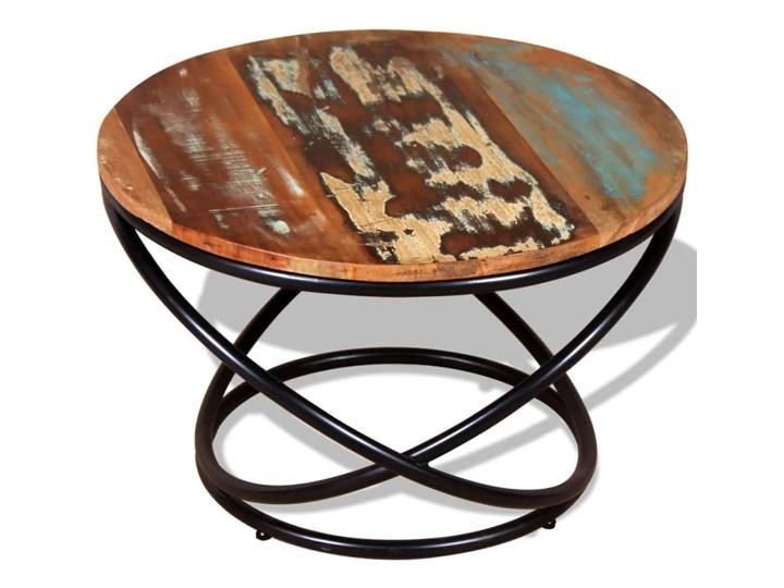 vidaXL Stolik kawowy, drewno odzyskane, 60x60x40 cm Metal Rodzaj nóg Krzyżak