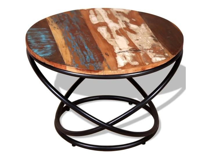 vidaXL Stolik kawowy, drewno odzyskane, 60x60x40 cm Rodzaj nóg Krzyżak Metal Rozmiar blatu 60x60 cm