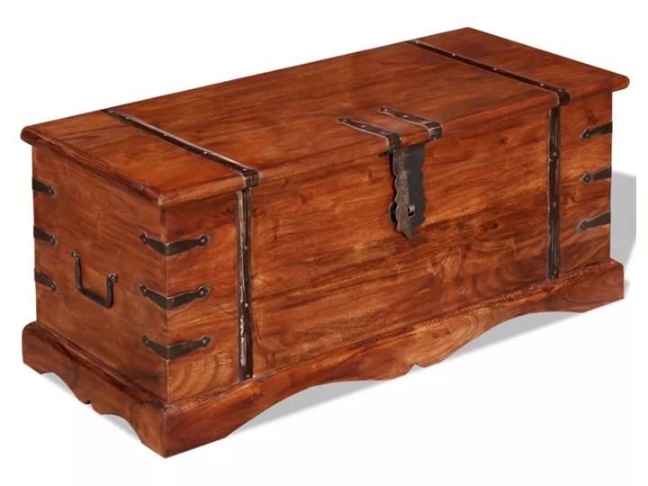 vidaXL Drewniana skrzynia, lite drewno Kolor Brązowy